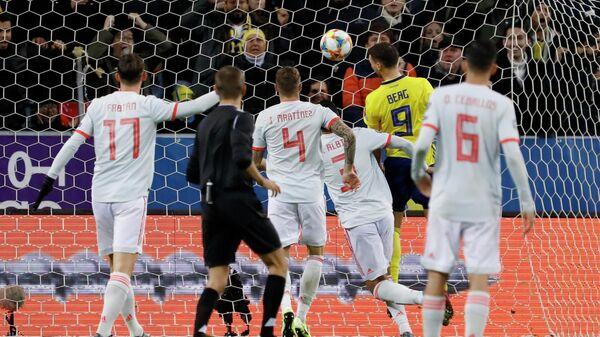 Футбол. Отборочный матч Евро-2020. Матч Швеция - Испания