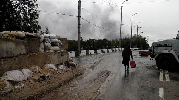 Донбасс во время боевых действий