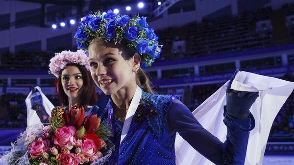 Евгения Медведева и Александра Трусова