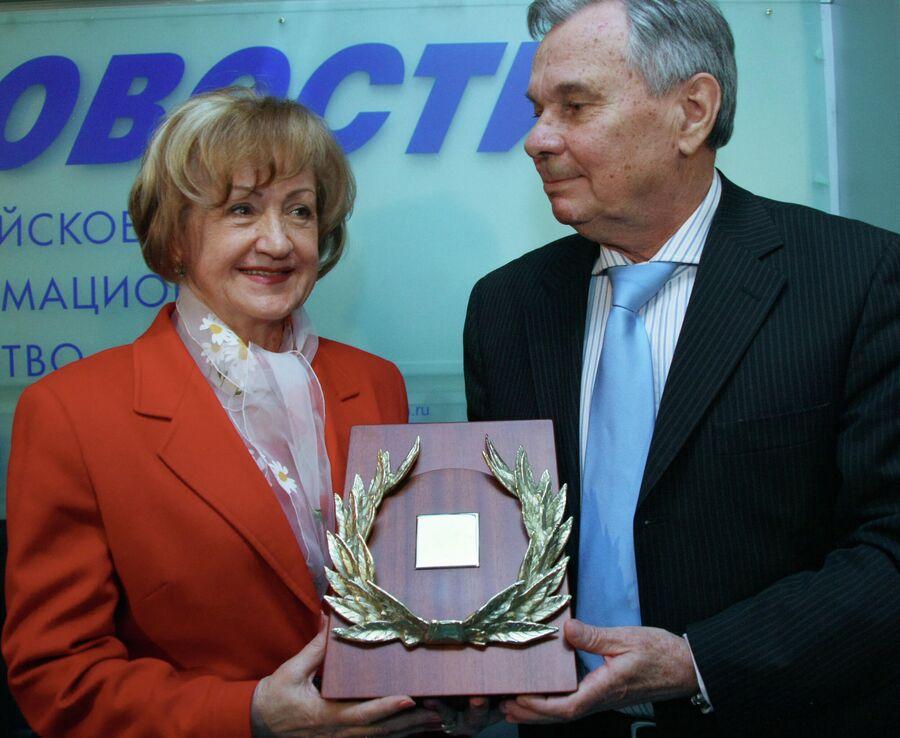 Лидия и Валентин Ивановы - лауреаты в номинации Легенда премии СЛАВА за 2007 год