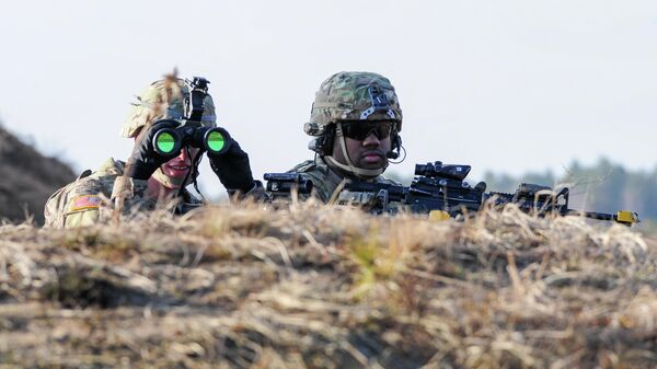 Американские военные во время учений