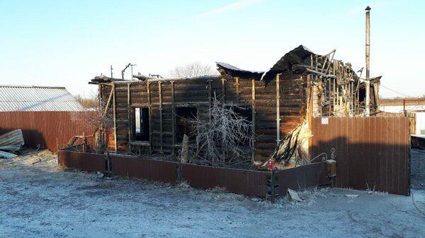 Сгоревший частный дом в Ишимском районе Тюменской области