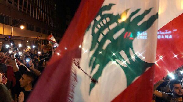 Антиправительственная демонстрация в Бейруте