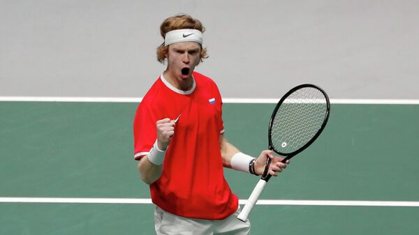Теннисист Андрей Рублев (Россия)