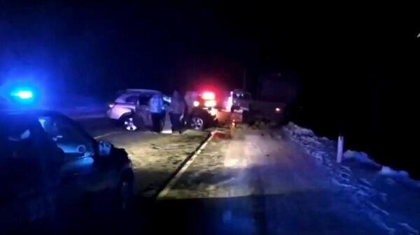 Видео СК с места ДТП с автомобилем мэра Тулуна