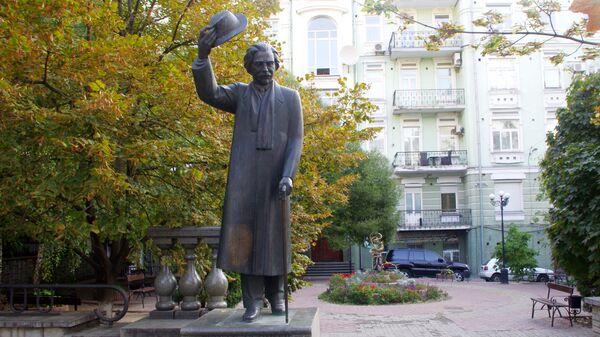 Памятник писателю Шолом-Алейхему в Киеве