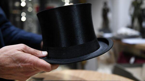 Шляпа Адольфа Гитлера на аукционе в Мюнхене, Германия. 20 ноября 2019