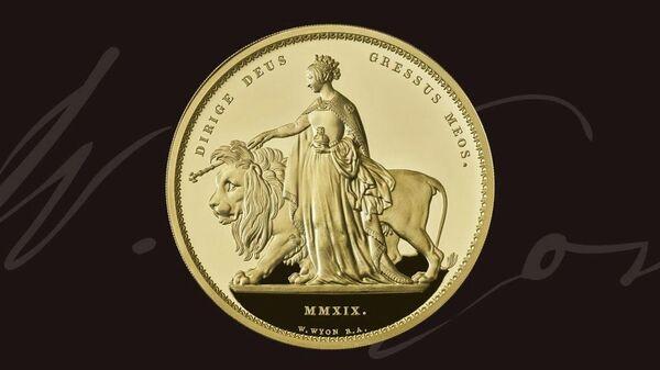 Монета из серии Great Engravers, сделанная по образцу работы Уильяма Вайона