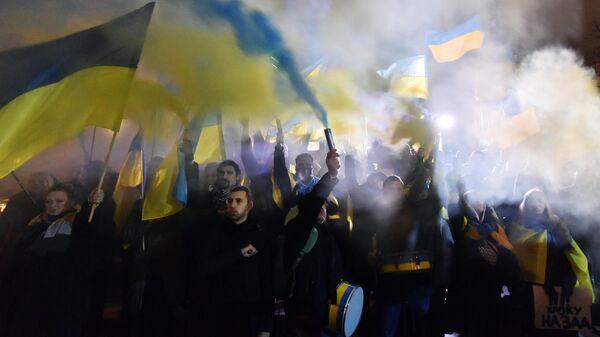 Акции на Украине к годовщине событий на Майдане
