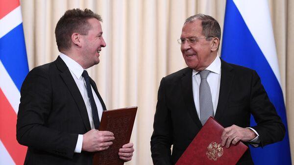 Министр иностранных дел РФ Сергей Лавров и министр иностранных дел Исландии Гудлёйгур Тор Тордарсон