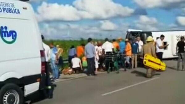 Автобус с российскими туристами столкнулся с грузовиком в Доминикане