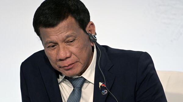 Президент Республики Филиппины Родриго Дутерте в России. 3 октября 2019