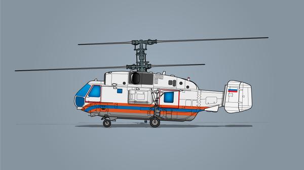 Вертолет Московского авиационного центра (МАЦ)