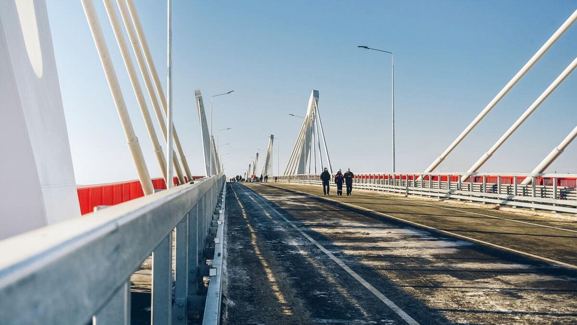 Новый мост через Амур из России в Китай в Благовещенске - РИА Новости, 1920, 03.01.2021