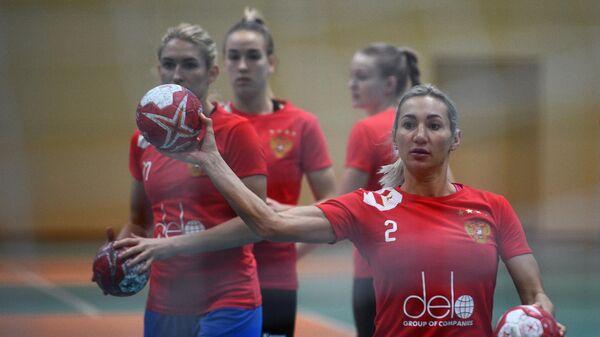 Гандбол. Тренировка женской сборной России