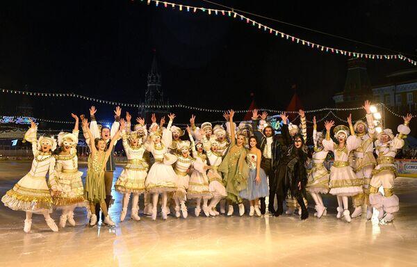 Открытие ГУМ-катка на Красной площади