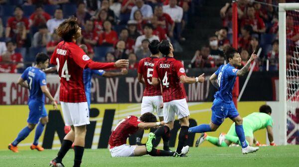 Матч чемпионата Южной Кореи по футболу.