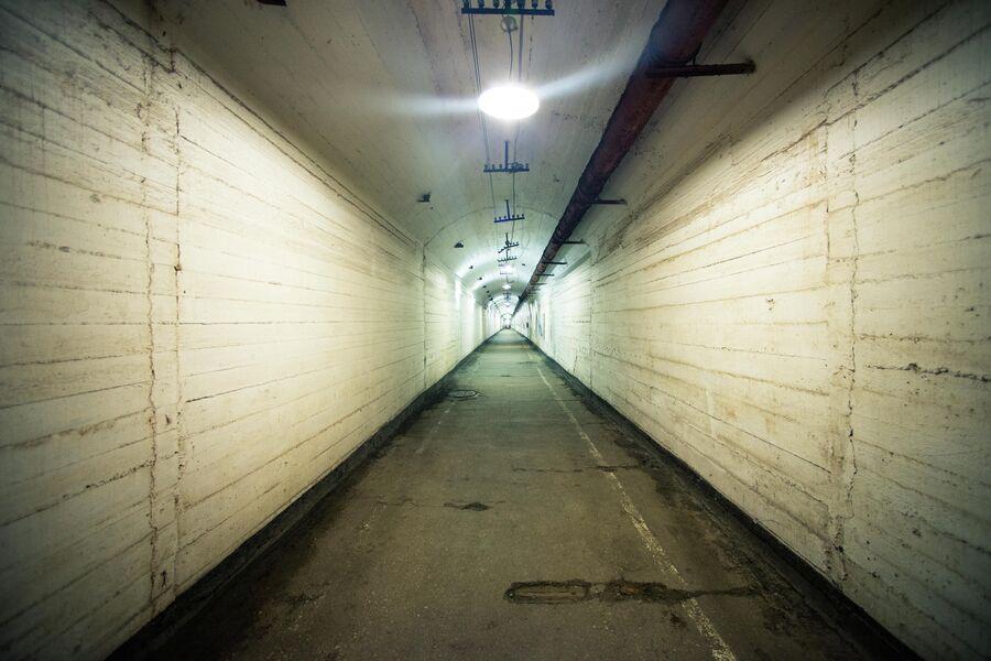 Потерна подземного объекта 825 ГТС, пробитая в горе Таврос, Балаклава