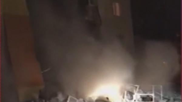 Момент обрушения жилого дома под Белгородом попал на видео
