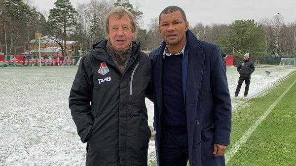 Главный тренер Локомотива Юрий Семин и бывший полузащитник Локомотива Франсиско Лима