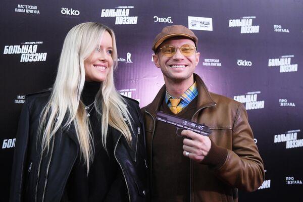 Телеведущий Дмитрий Хрусталев и его супруга Мария Гончарук