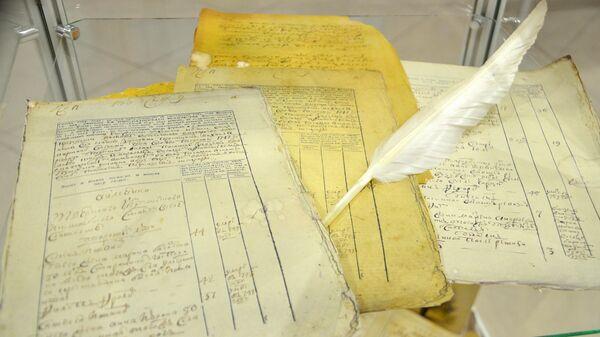 Экспонаты музея переписи населения в Росстате