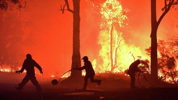 Тушение лесного пожара недалеко от Термейла в Австралии