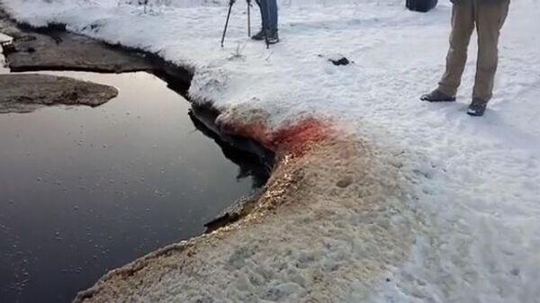 В Омской области нашли озеро из крови