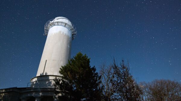 Башенный солнечный телескоп Крымской астрофизической обсерватории РАН в поселке Научный.