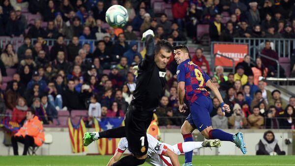 Гол футболиста Барслеоны Луиса Суареса в матче с Мальоркой.