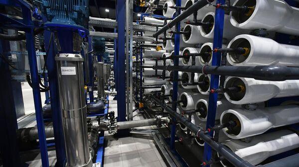Участок угольных фильтров очистных сооружений на Московском нефтеперерабатывающем заводе