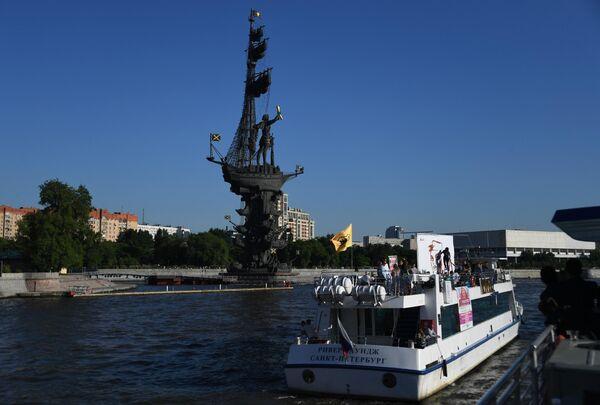 Первый чемпионат мира по граффити 3D на Москве-реке