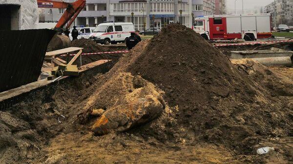 Немецкую авиабомбу времен войны весом 250 кг нашли на стройплощадке в Белгороде