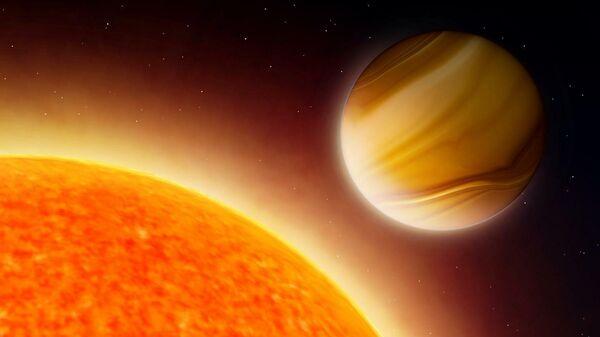 Гигантская экзопланета в представлении художника