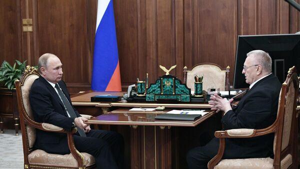 Президент РФ В. Путин встретился с лидером ЛДПР В. Жириновским