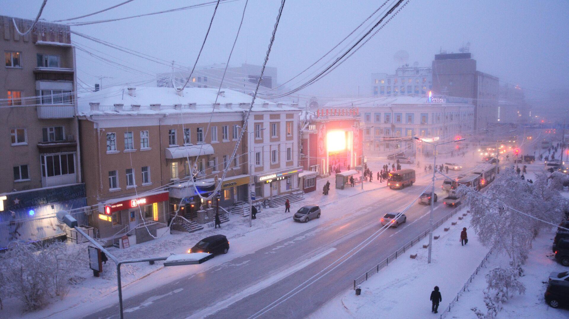 Проспект Ленина в городе Якутске - РИА Новости, 1920, 09.03.2021