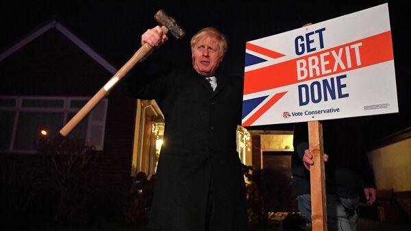 Премьер-министр Великобритании Борис Джонсон в последний день выборов в Великобритании