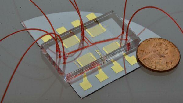 Акустофлюидный чип для выделения слюнных экзосом