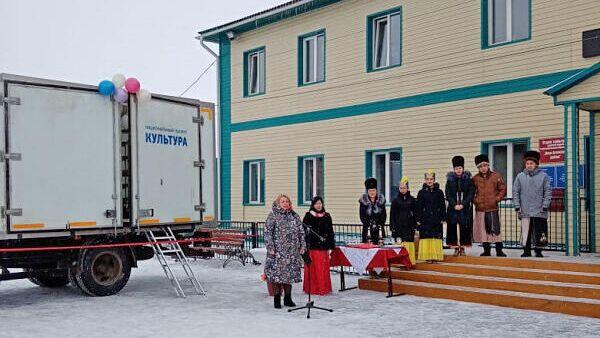 Многофункциональный культурный центр (автоклуб) в одном из сел Республики Алтай