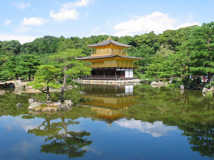 Храм Кинкаку-дзи в комплексе Рокуон-дзи