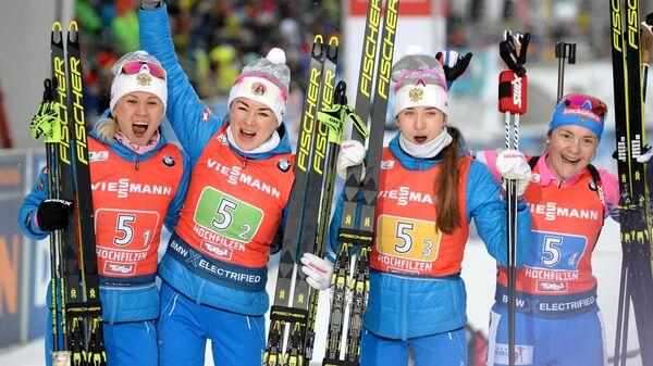 Биатлонистки сборной России