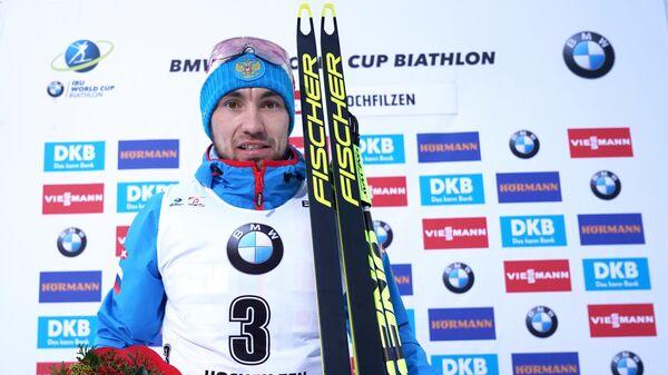 Биатлон. А. Логинов завоевал серебро в гонке преследования на II этапе КМ