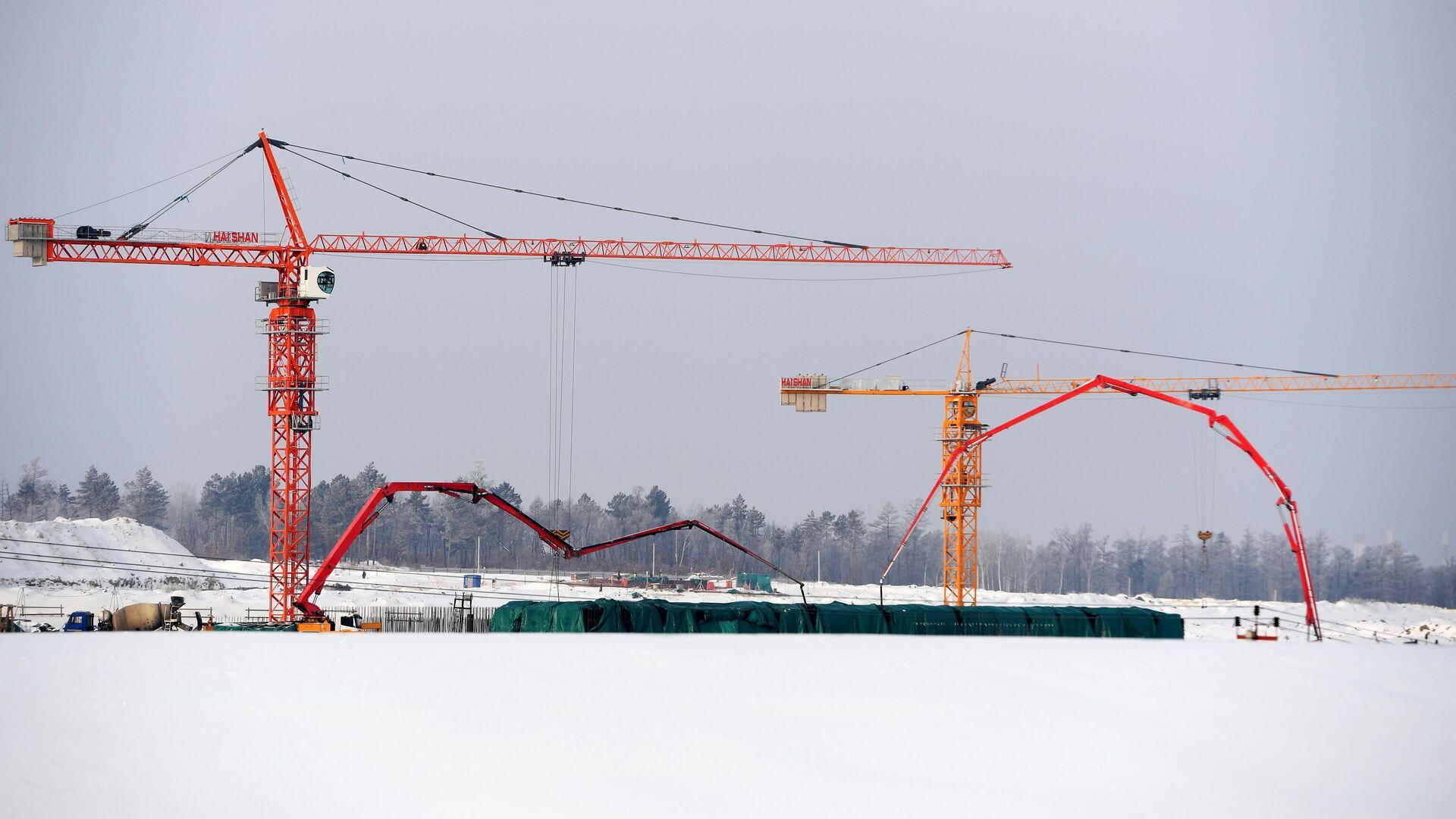 Строительство второй очереди космодрома Восточный - РИА Новости, 1920, 05.03.2021