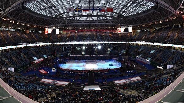 Стадион Газпром Арена перед началом матча Россия – Финляндия