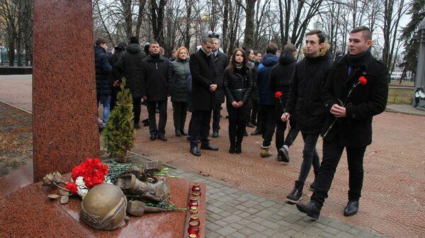 Митинг в Луганске памяти погибших в Донбассе журналистов. 15 декабря 2019