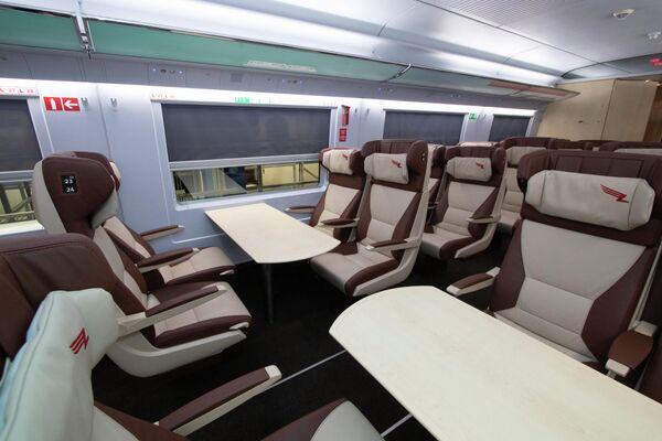 Новый интерьер высокоскоростного поезда Сапсан