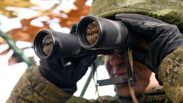 Военнослужащий во время учений