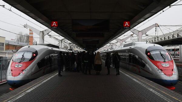 Поезда Сапсан на Ленинградском вокзале Москвы