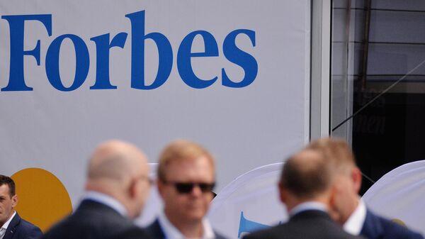 Баннер с логотипом Forbes