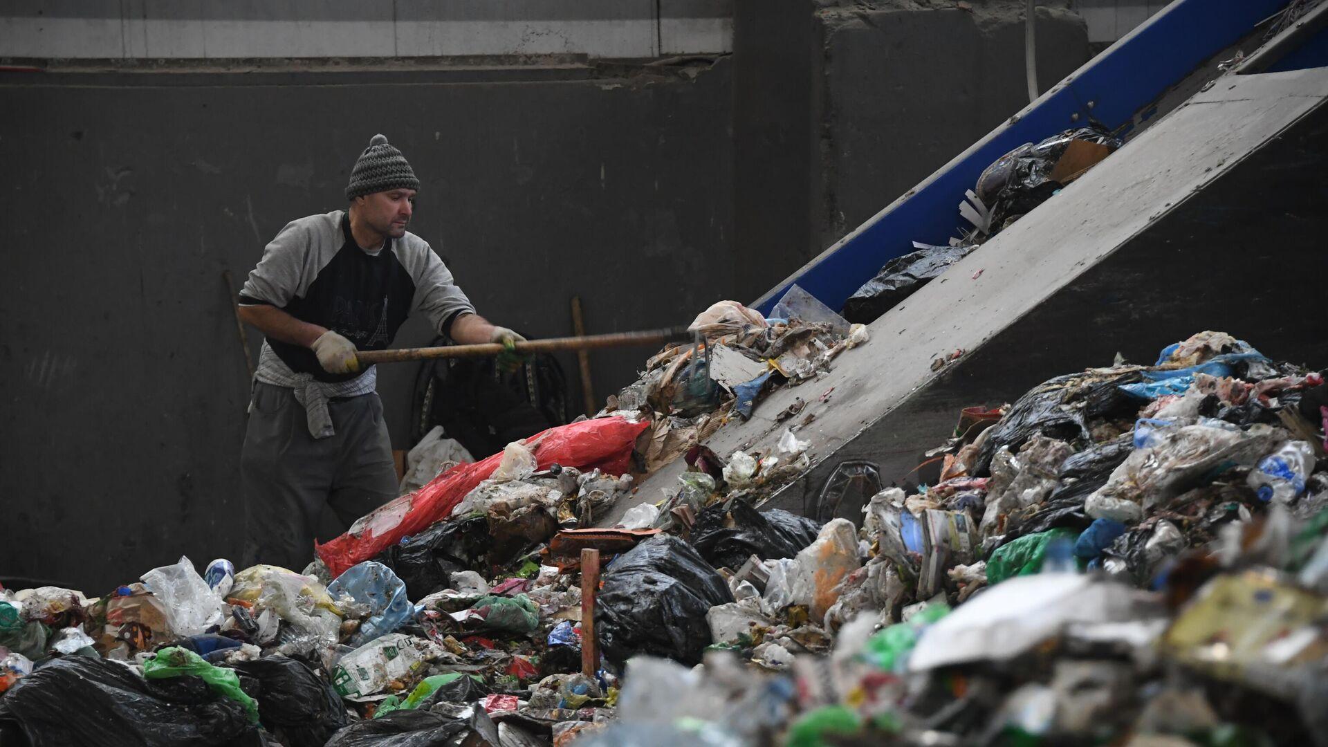 Сортировка отходов в Москве - РИА Новости, 1920, 22.01.2020